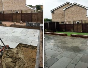 Patio of Indian Sandstone