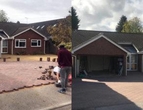 block paved driveway construction