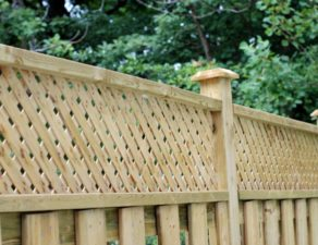 lattice panels for privacy vinyl fences this wood privacy fence has lattice